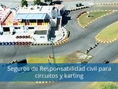 Seguros de responsabilidad civil para circuitos y karting